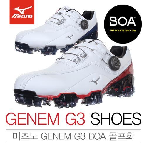 [2018년신제품]한국미즈노 GENEM G3 BOA 제넴 지쓰리 보아 남성용 골프화(51GM18056262/51GM18052222)
