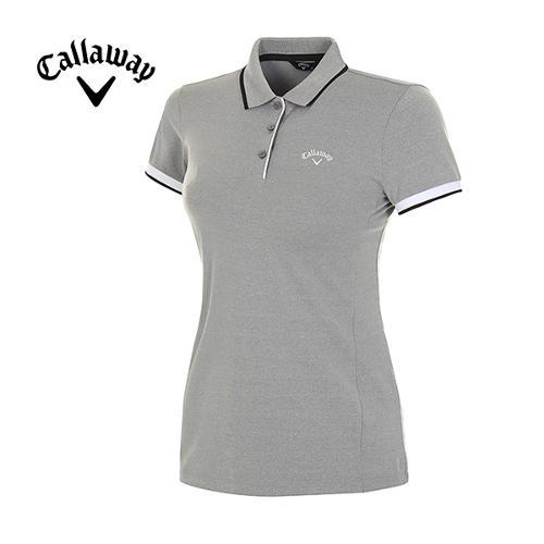 18SS 여성 배색 라인 반팔 카라 티셔츠 CWTPH6101-193