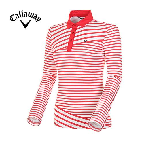 18SS 여성 믹스 스트라이프 카라 티셔츠 CWTYH5108-500