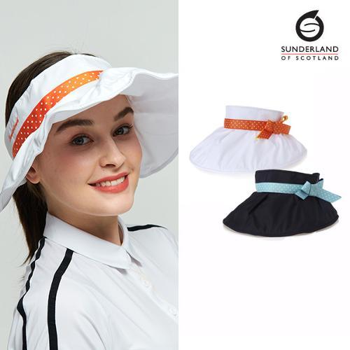 선덜랜드 SUNDERLAND 여성 셔링포인트 리본 골프모자/썬캡 - 16812CP25