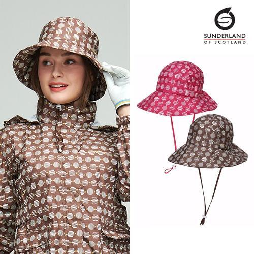 [시즌특가]선덜랜드 SUNDERLAND 여성 헥사곤 패턴 완벽방수 벙거지모자 - 16812CP24