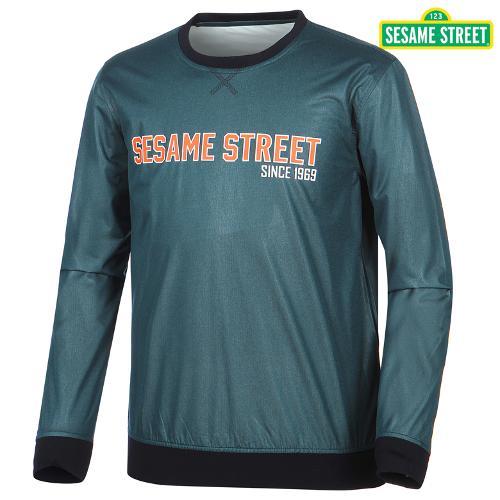[세서미]남성 레터링 광택 티셔츠(S5SMWB903-GR)