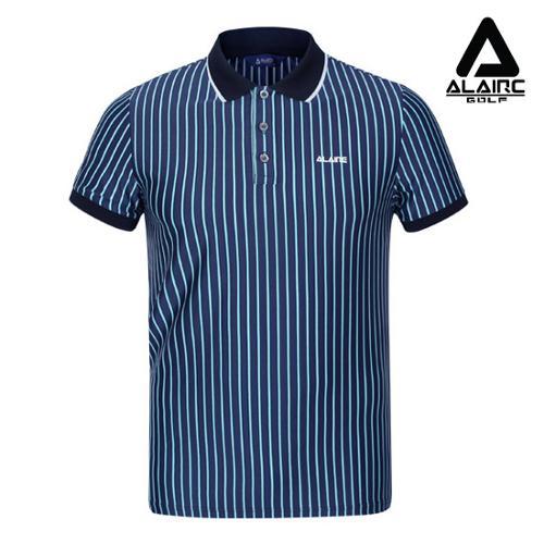 [알레어 골프] 남성 배색 스트라이프 카라티셔츠(AMB1TT203-BL)