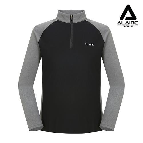 [알레어 골프] 남성 시크 배색 반짚업 티셔츠(AMA3TC101-GR)