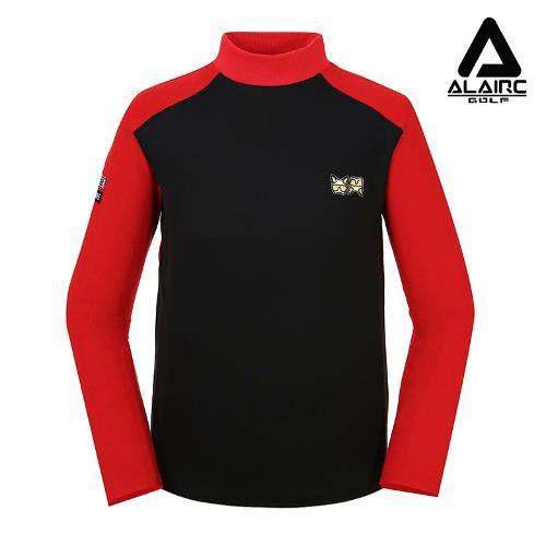 [알레어 골프] 남성 배색 시크 터틀넥 티셔츠(AMB3TP102-BK)