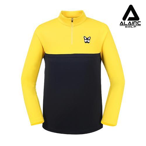 [알레어 골프] 남성 캐주얼 배색 반짚업 티셔츠(AMB3TP104-NY)