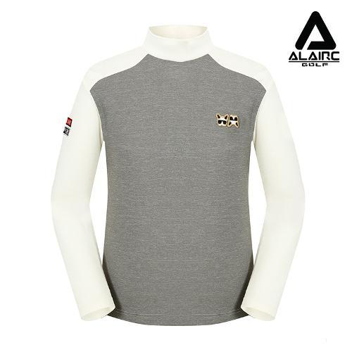 [ALAIRE GOLF] 남성 배색 터틀넥 티셔츠