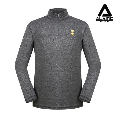 [알레어 골프] 남성 패치 솔리드 반짚업 티셔츠(AMB3TP112-CGR)