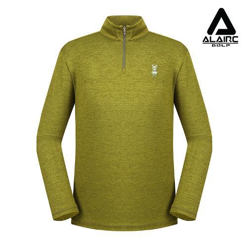 [알레어 골프] 남성 패치 솔리드 반짚업 티셔츠(AMB3TP112-LGN)