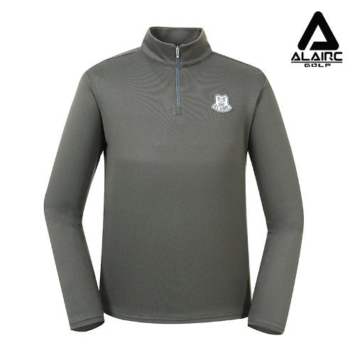 [알레어 골프] 남성 패치 반짚업 티셔츠(AMB3TP114-DGR)