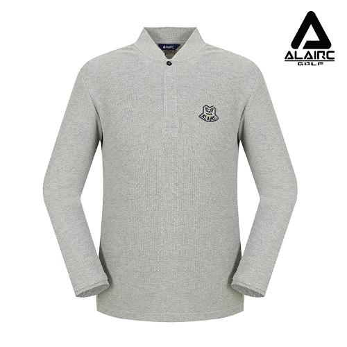 [알레어 골프] 남성 솔리드 자수 티셔츠(AMB3TT205-GR)