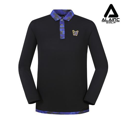 [알레어 골프] 남성 밀리터리 카라 티셔츠(AMB3TY303-BK)