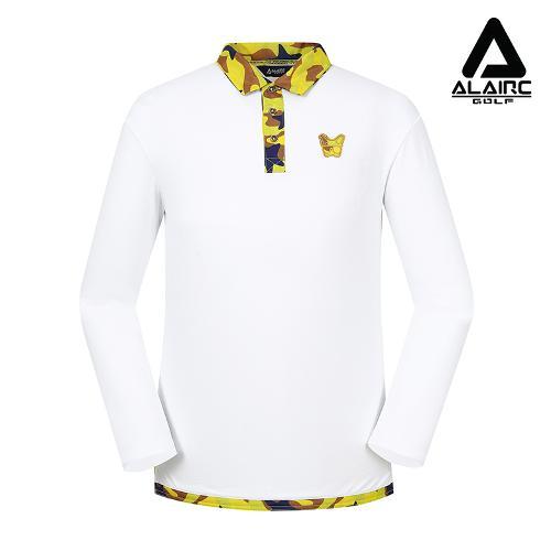 [알레어 골프] 남성 밀리터리 카라 티셔츠(AMB3TY303-WH)