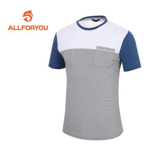 [올포유]남성 톤인톤 배색 티셔츠 AMTRF2186-100