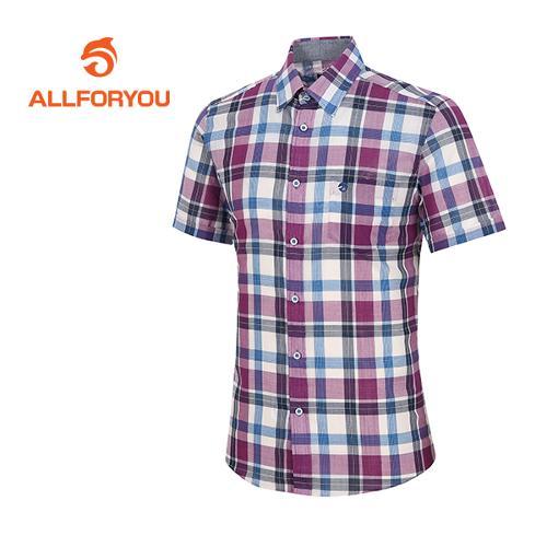 [올포유]남성 쿨 혼방 체크 셔츠 AMBSF2660-500