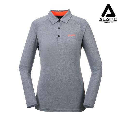 [알레어 골프] 여성 네온 배색 카라 티셔츠(AFA3TT201-GR)