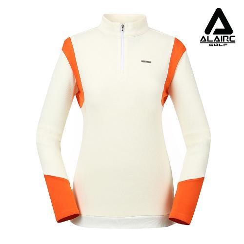 [알레어 골프] 여성 버튼 포인트 반짚업 티셔츠(AFB1TP105-WH)