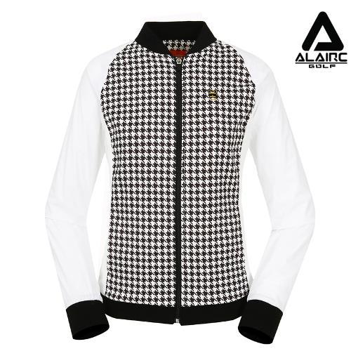 [알레어 골프] 여성 하운드 패턴 짚업점퍼(AFB3WJ304-WH)