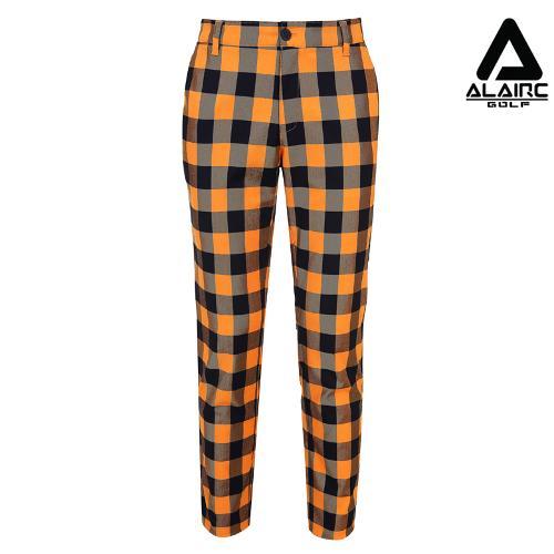 [알레어 골프] 남성 사각 체크 심플 팬츠(AMB3PT103-OR)