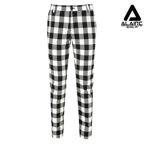 [알레어 골프] 남성 사각 체크 심플 팬츠(AMB3PT103-WH)