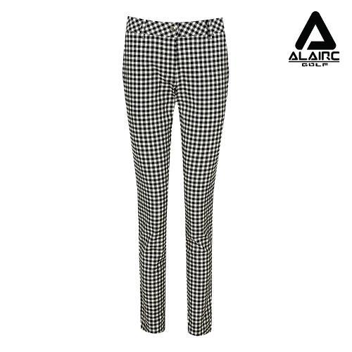 [알레어 골프] 여성 체크 배색 클래식 팬츠(AFB3PT104-BK)