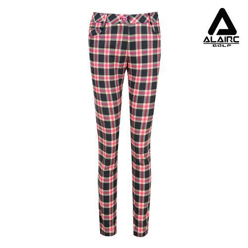 [알레어 골프] 여성 체크패턴 배색 팬츠(AFB3PT105-GR)