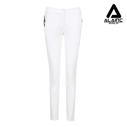 [알레어 골프] 여성 사선 배색 심플 팬츠(AFB3PT106-WH)