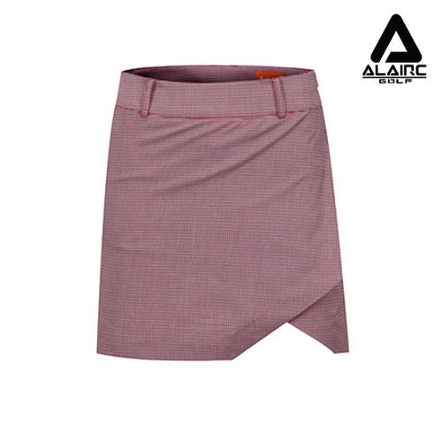 [알레어 골프] 여성 잔무늬 체크 스커트(AFB1QC102-RE)