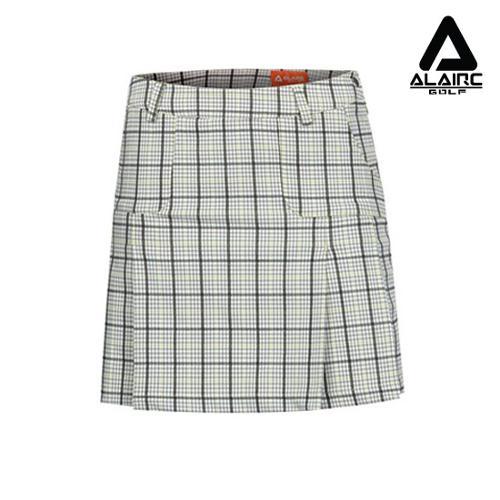 [알레어 골프] 여성 포켓 절개 체크 스커트(AFB1QC103-GN)