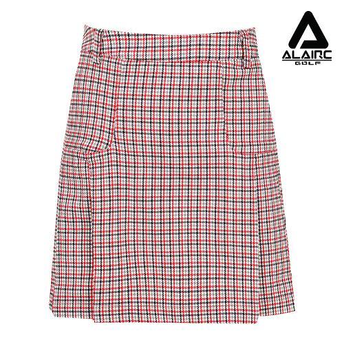 [알레어 골프] 여성 멀티배색 체크 스커트(AFB1QC103-RE)