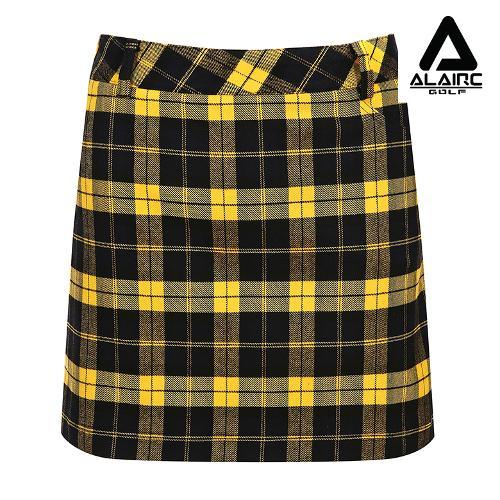 [알레어 골프] 여성 체크패턴 클래식 스커트(AFB3QC112-YE)