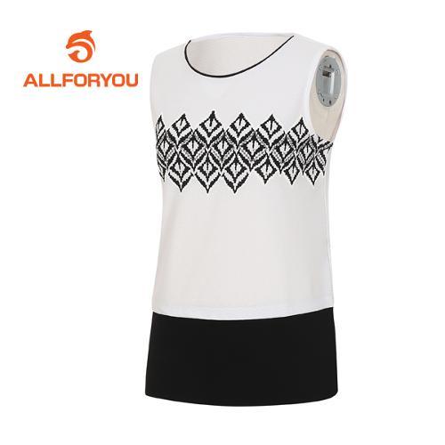 [올포유]여성 에스닉 티셔츠 AWTSF6155-100