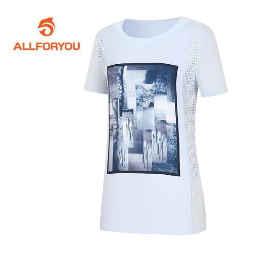 [올포유]여성 액자 프린트 포인트 티셔츠 AWTRF6161-920