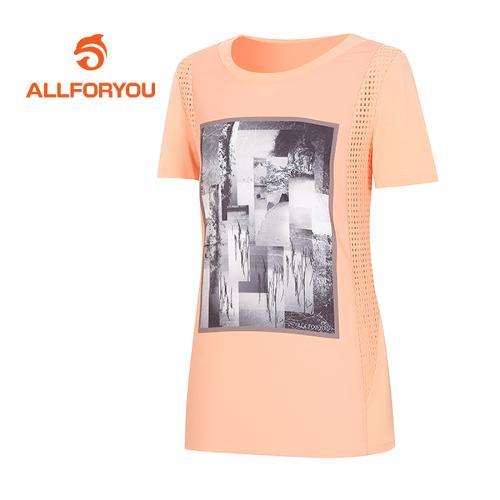 [올포유]여성 액자 프린트 포인트 티셔츠 AWTRF6161-301