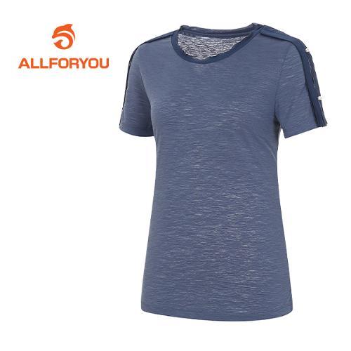 [올포유]여성 배색 러플 디테일 티셔츠 AWTRF6166-906