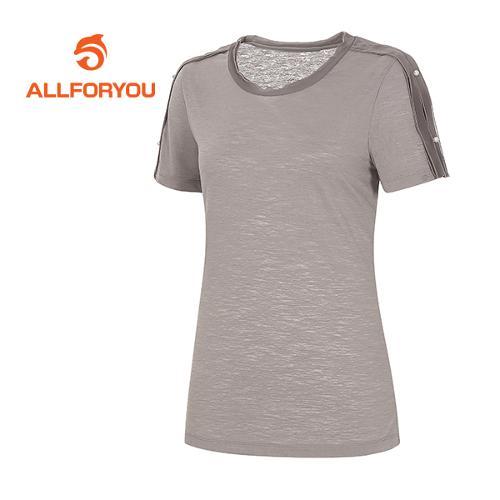 [올포유]여성 배색 러플 디테일 티셔츠 AWTRF6166-509