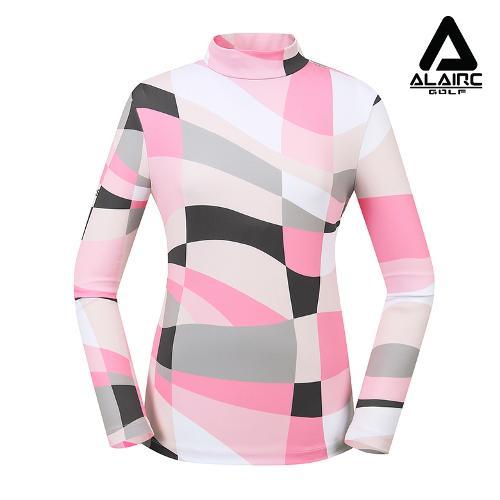 [알레어 골프] 여성 멀티배색 터틀넥 티셔츠(AFB3TP104-PK)