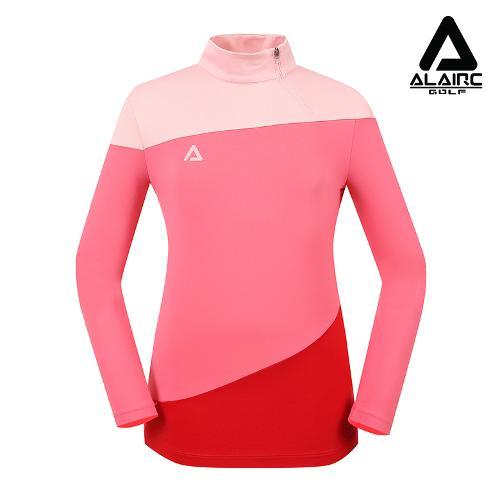 [알레어 골프] 여성 사선 배색 반짚업 티셔츠(AFB3TP106-PK)