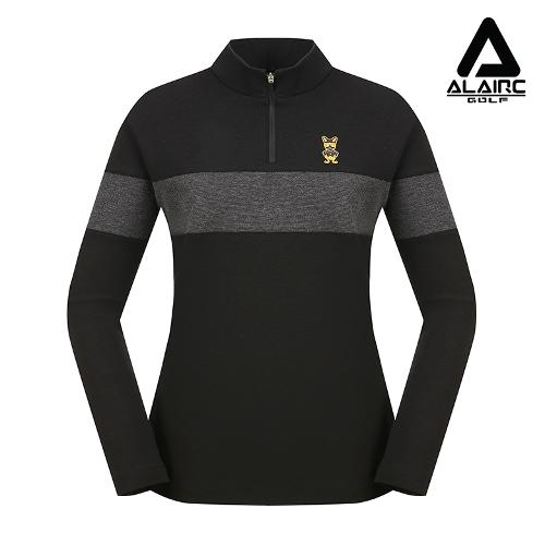 [ALAIRE GOLF] 여성 톤인톤 시크 반짚업 티셔츠