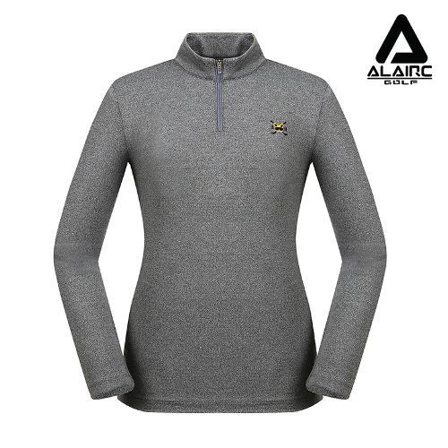 [알레어 골프] 여성 자수 솔리드 반짚업 티셔츠(AFB3TP113-CGR)