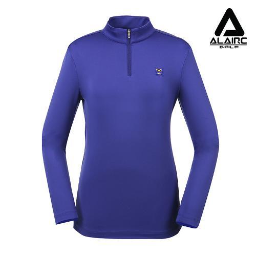 [알레어 골프] 여성 자수 솔리드 반짚업 티셔츠(AFB3TP113-CO)