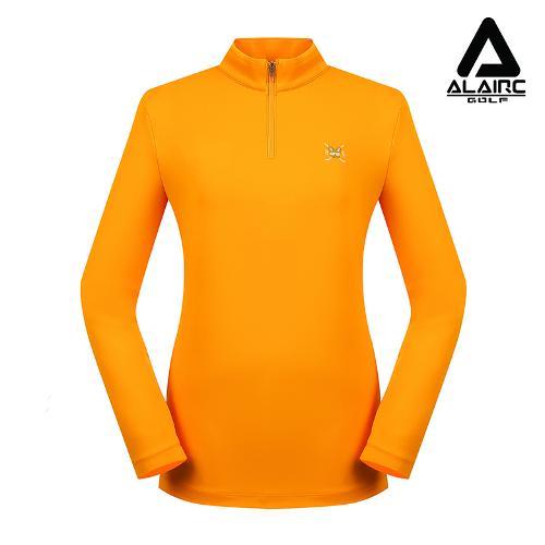 [ALAIRE GOLF] 여성 자수 솔리드 반짚업 티셔츠
