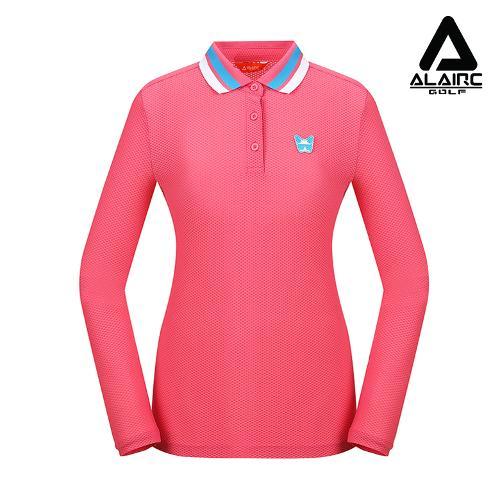 [알레어 골프] 여성 엠보 카라배색 티셔츠(AFB3TT202-PK)