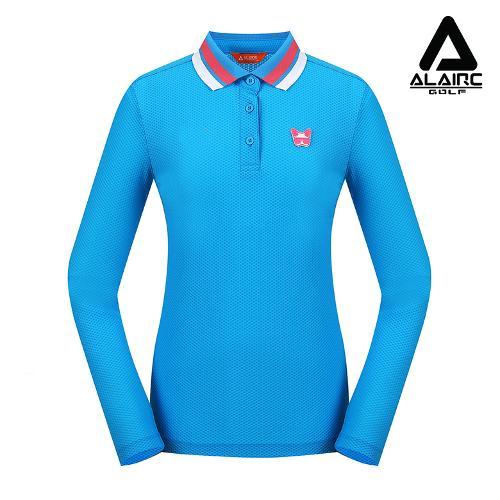 [ALAIRE GOLF] 여성 엠보 카라배색 티셔츠