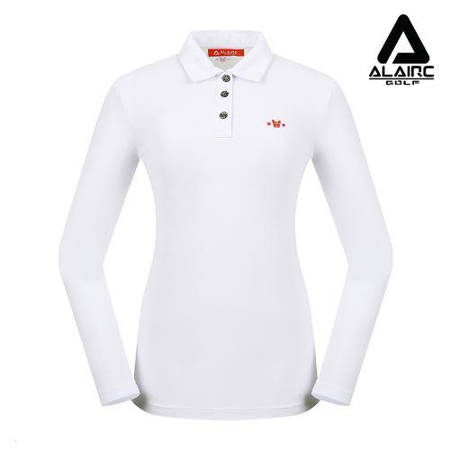 [알레어 골프] 여성 솔리드 프린팅 카라티셔츠(AFB3TY306-WH)