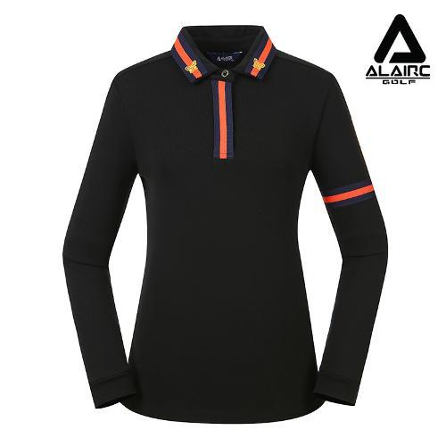 [알레어 골프] 여성 펄 자수 포인트 카라티셔츠(AFB3TY307-BK)