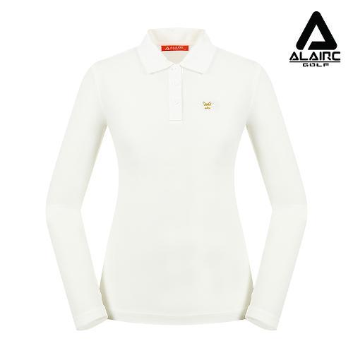 [알레어 골프] 여성 솔리드 자수 카라티셔츠(AFB3TY311-WH)