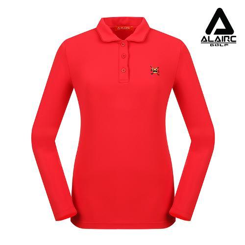 [알레어 골프] 여성 솔리즈 자수 포인트 카라티(AFB3TY314-RE)