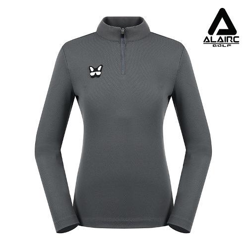 [알레어 골프] 여성 매쉬 패치 반짚업 티셔츠(AFC1TP131-DGR)
