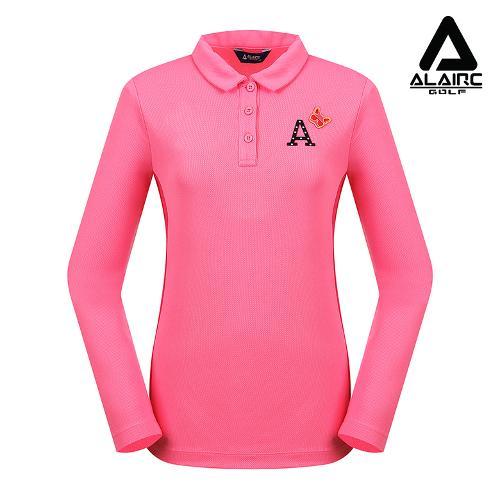 [알레어 골프] 여성 매쉬 배색 패치 카라티셔츠(AFC1TY331-PK)